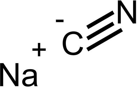 ساختار مولکولی سیانور سدیم