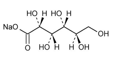 ساختار شیمیایی سدیم گلوکونات