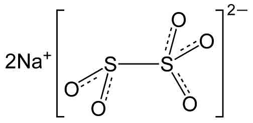 ساختار سدیم متا بی سولفیت