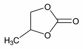 ساختار پروپیلن کربنات